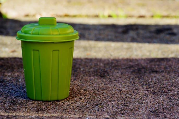 limpiar el cubo de basura